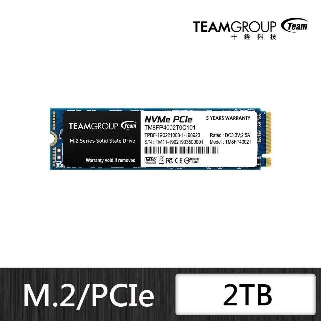 【Team 十銓】TEAM 十銓 MP34 2TB M.2 PCIe SSD 固態硬碟