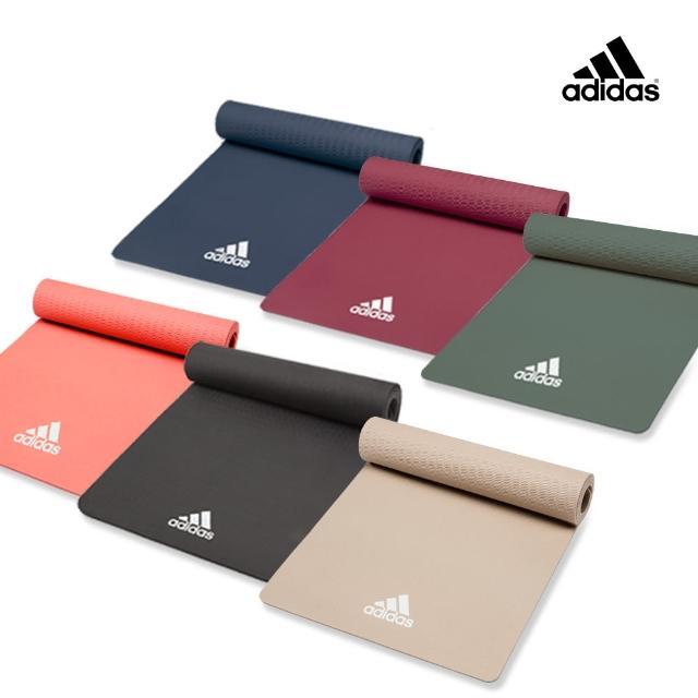 【adidas 愛迪達】Yoga 輕量波紋瑜珈墊-8mm