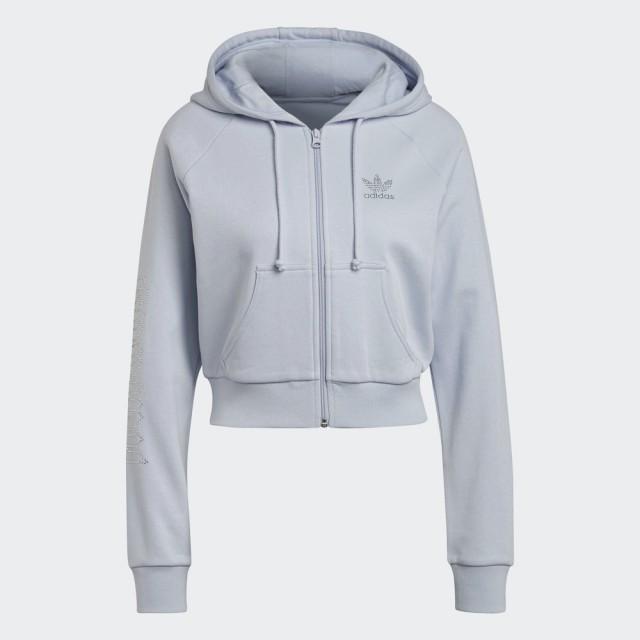 【adidas官方旗艦館】ISC 連帽短版外套 女(HF6765)