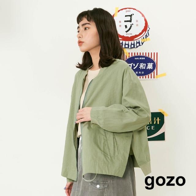 【gozo】格子織紋布勞森外套(兩色)