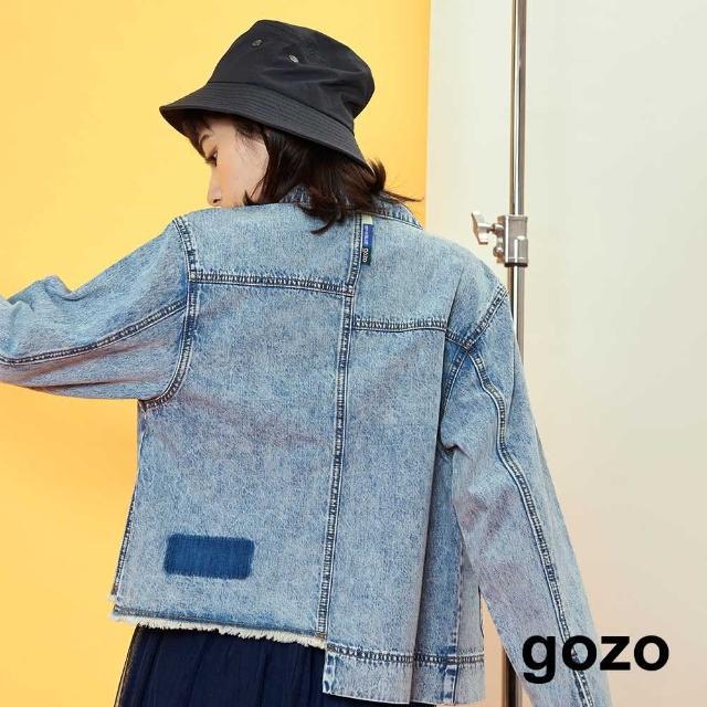 【gozo】不對稱設計牛仔外套(兩色)