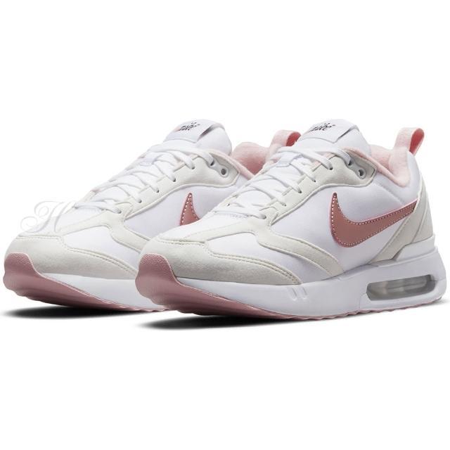 【NIKE 耐吉】慢跑鞋 女鞋 大童鞋 運動鞋 氣墊 緩震 AIR MAX DAWN GS 白粉 DH3157-101
