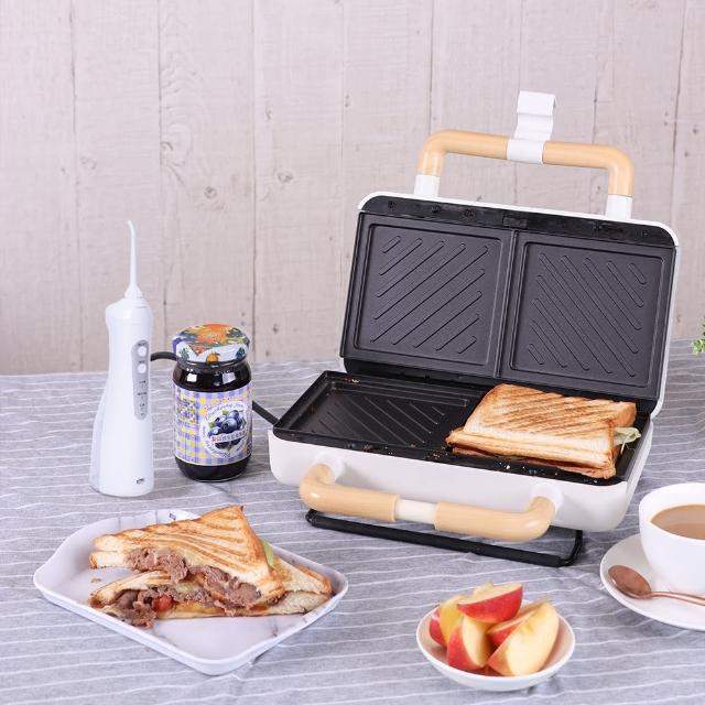 【Roommi】煎烤熱壓三明治機+即靜沖牙機